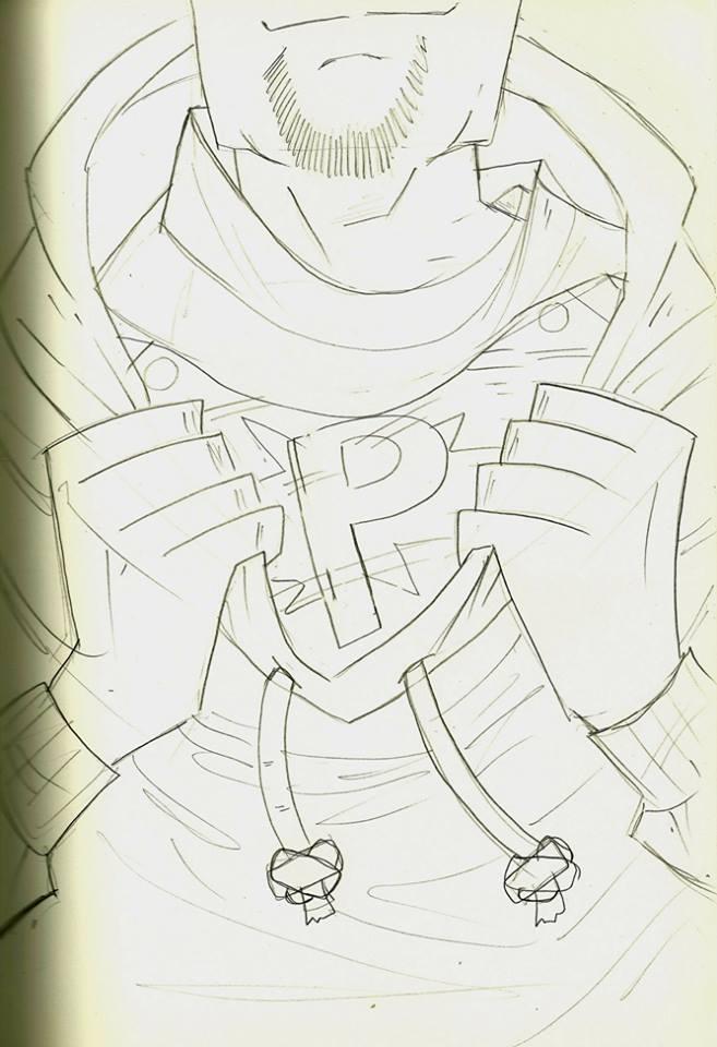 Filler Art: First Cover Sketch